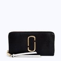 Marc Jacobs Snapshot Standard Continental Wallet - Black/Pink