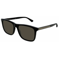 Gucci Men's Clubmaster Sunglasses - Black/Polarized Grey