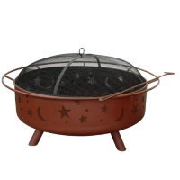 Landmann Super Sky Fire Pit with Poker & Spark Guard